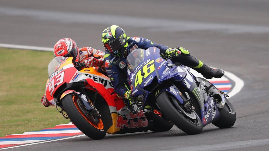 La reacción de Marc Márquez a la retirada de MotoGP de Valentino Rossi