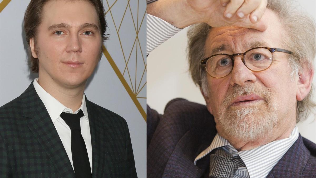 Paul Dano y Steven Spielberg.