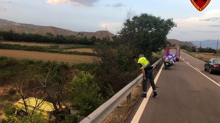 Fallece un motorista tras precipitarse por un puente entre Ateca y Terrer