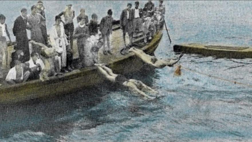 Alicerces dos deportes náuticos en Cangas (I)