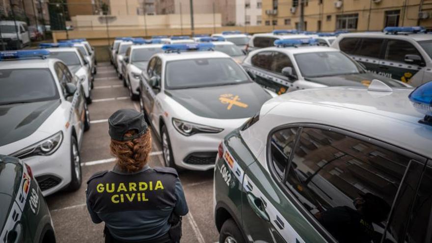 La Guardia Civil renueva el 26% de  su parque móvil en las dos provincias