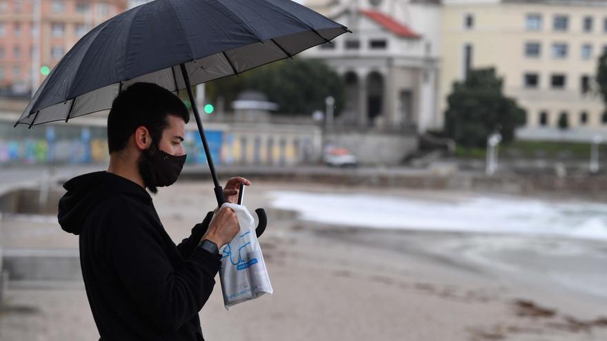 La lluvia regresa a Galicia y activa alerta amarilla en A Coruña y Pontevedra