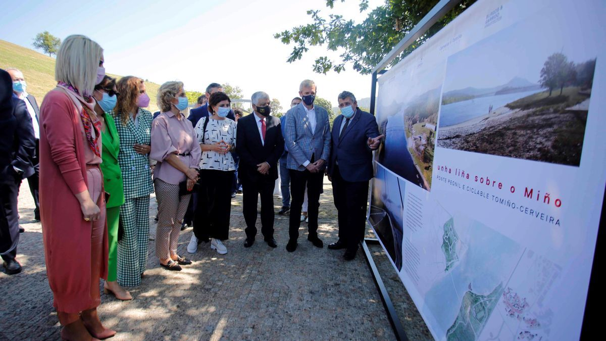 Presentación oficial del Parque da Amizade y el proyecto del nuevo puente peatonal que enlazará Tomiño con Cerveira