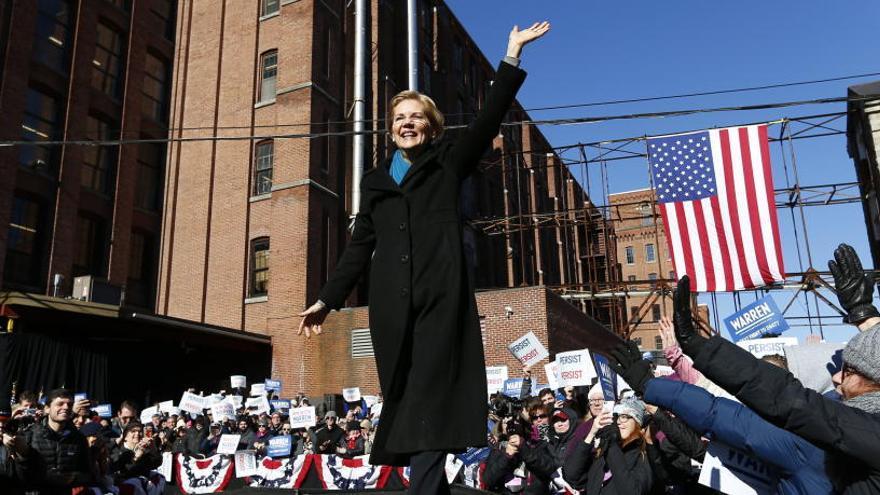 Elizabeth Warren lanza su campaña electoral para 2020
