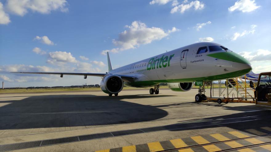 Binter completa su flota de reactores con su quinto Embraer E195-E2
