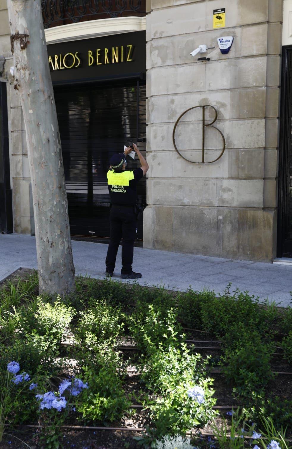Vandalismo en la Plaza Santa Engracia de Zaragoza