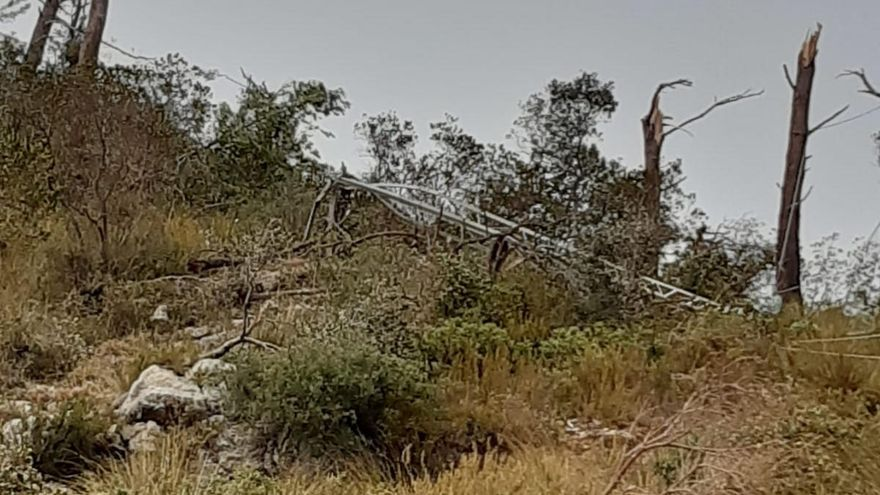Seis pueblos de la Serra de Tramuntana se quedan sin luz varias horas por la tormenta