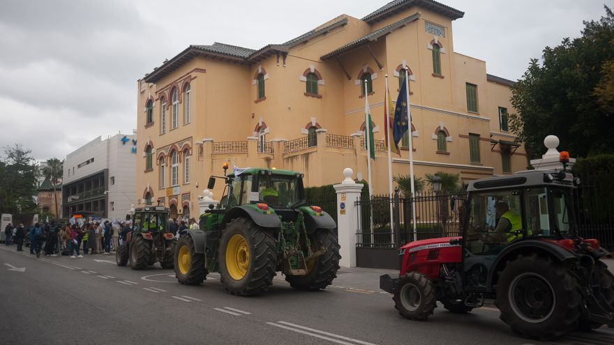 Los agricultores malagueños protestan contra la reforma del PAC