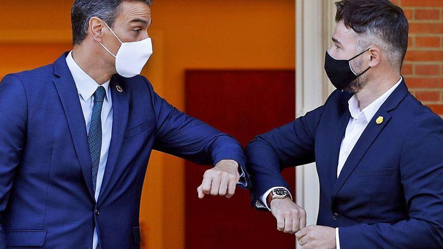 El Gobierno se compromete a convocar la mesa catalana para satisfacer a ERC