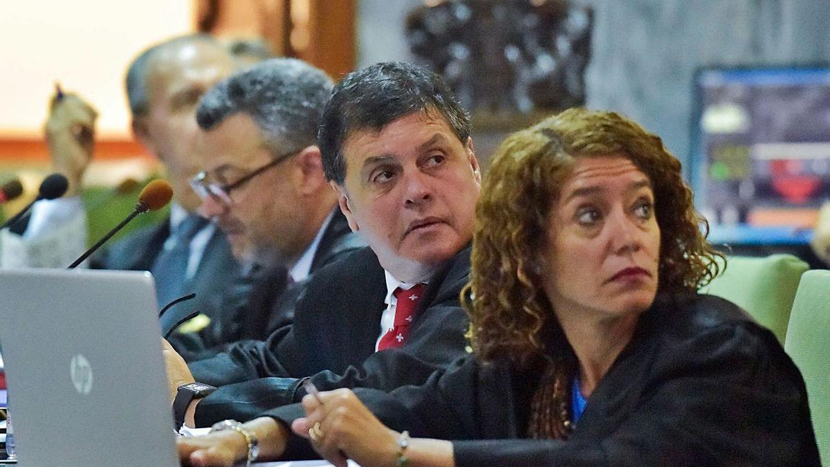 Sandra Rodríguez, en un instante del juicio contra el juez Salvador Alba en julio de 2019.