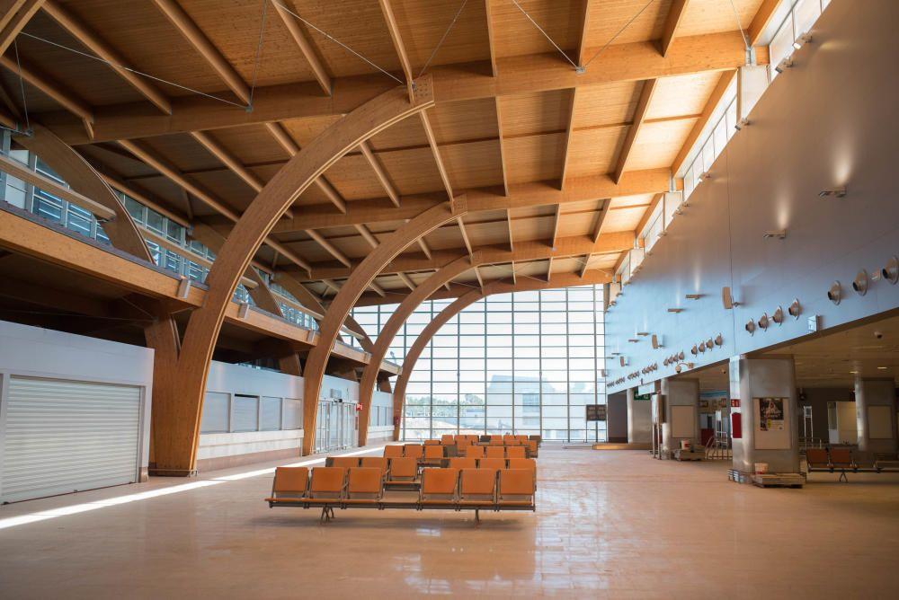 Obra del edificio de enlace del Tenerife Sur
