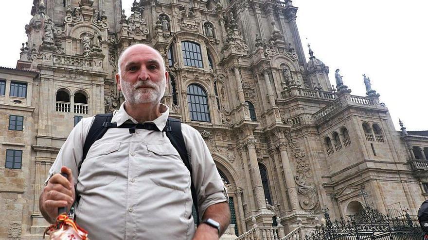 José Andrés completa su tercer Camino de Santiago en su 52 cumpleaños
