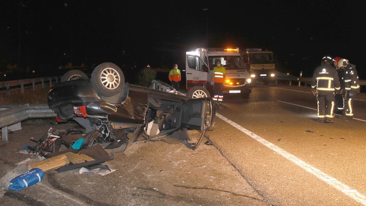 Fallecen dos mujeres en un grave accidente múltiple en Villaviciosa