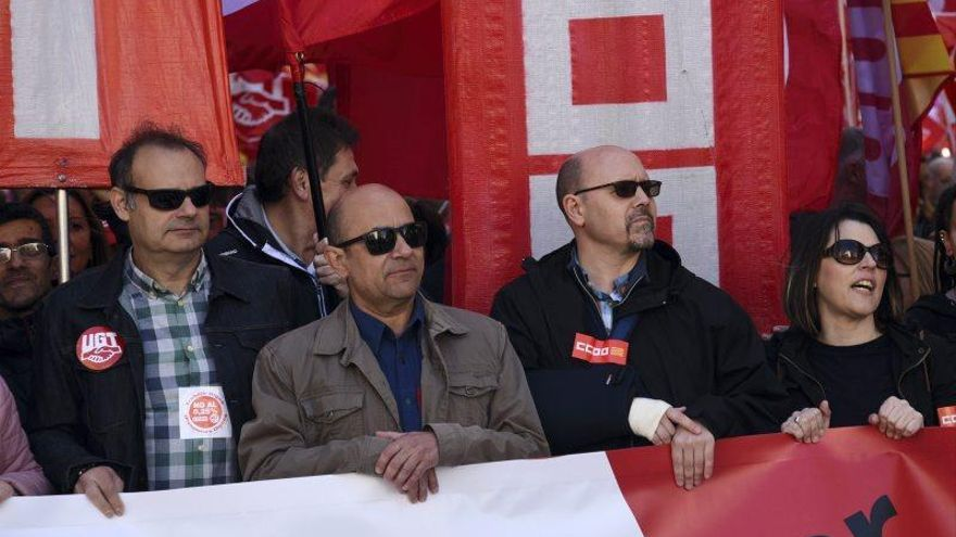 Fotod de la manifestación 1 de mayo- Día del trabajador