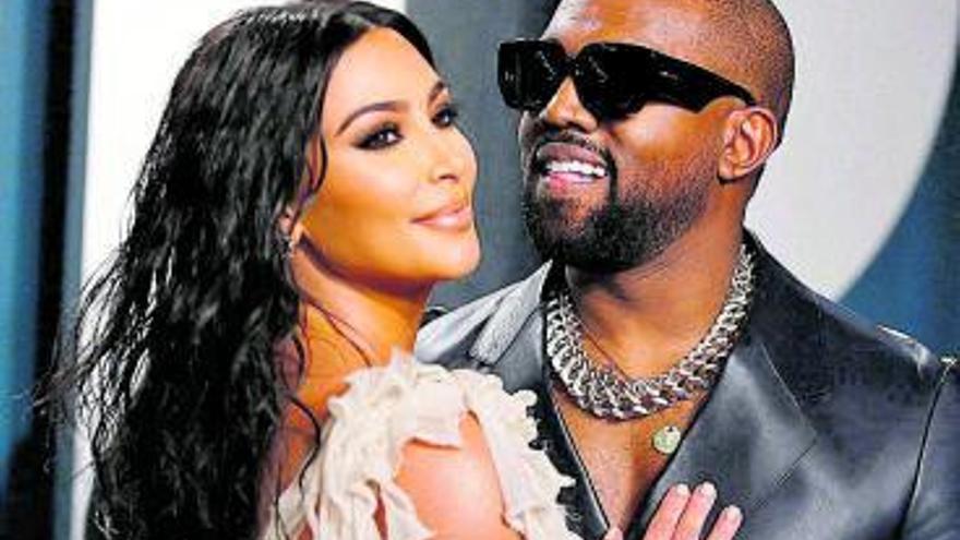 Kanye West y Kim Kardashian, a la greña por su divorcio