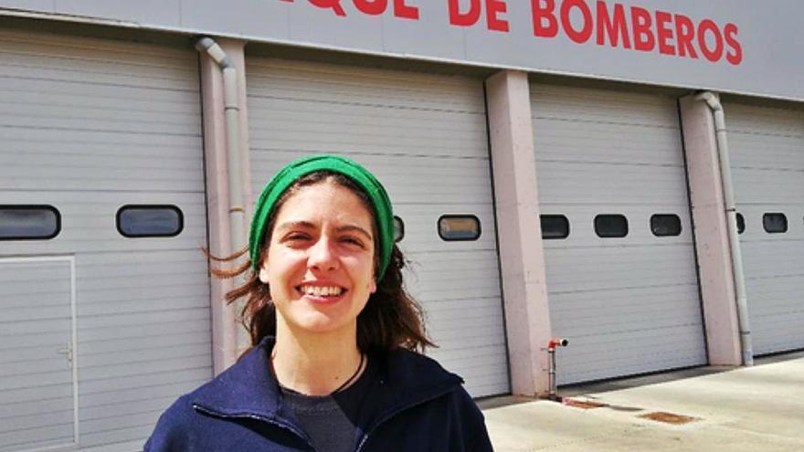 """Marusela Fanjul, primera mujer bombero de Zamora: """"Ser bombero no es inaccesible para nosotras, solo basta con proponérselo"""""""