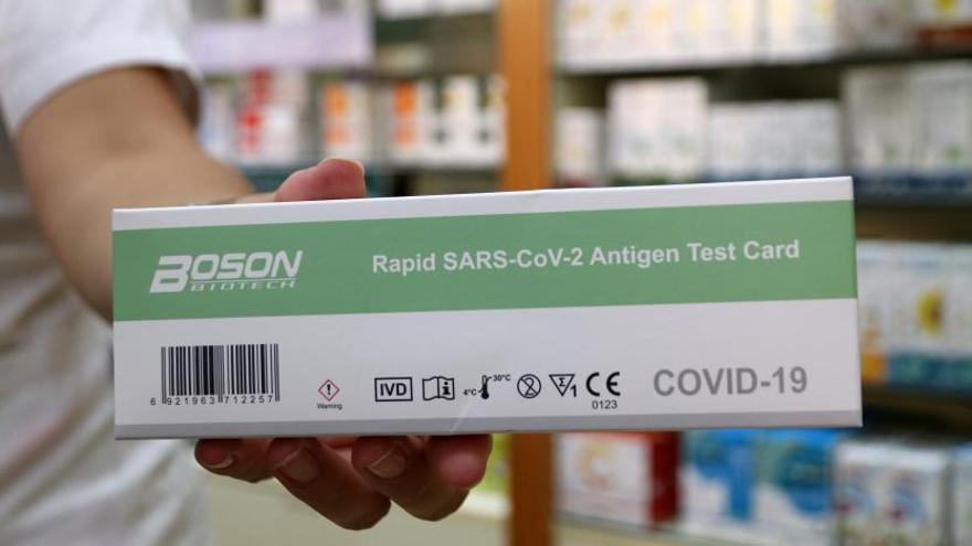 Test de antígenos en Málaga, con 'stock' pero sin certificado oficial