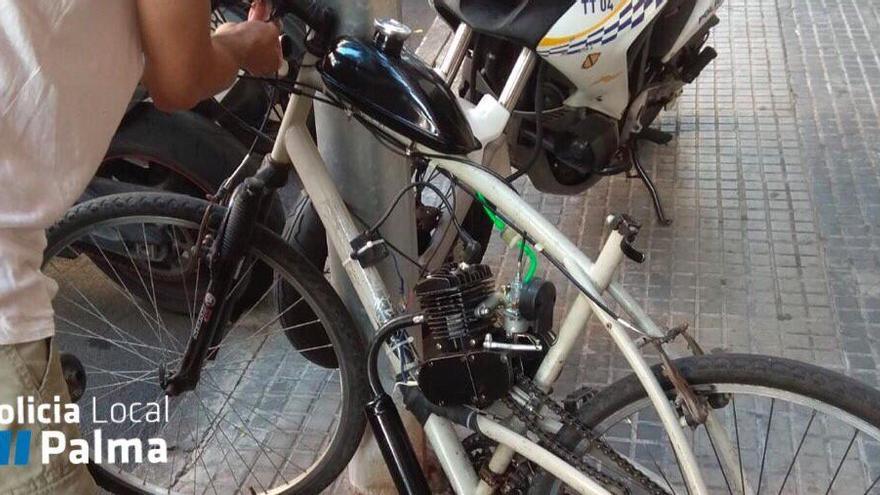 Ortspolizei Palma beschlagnahmt selbst gebasteltes Motorrad