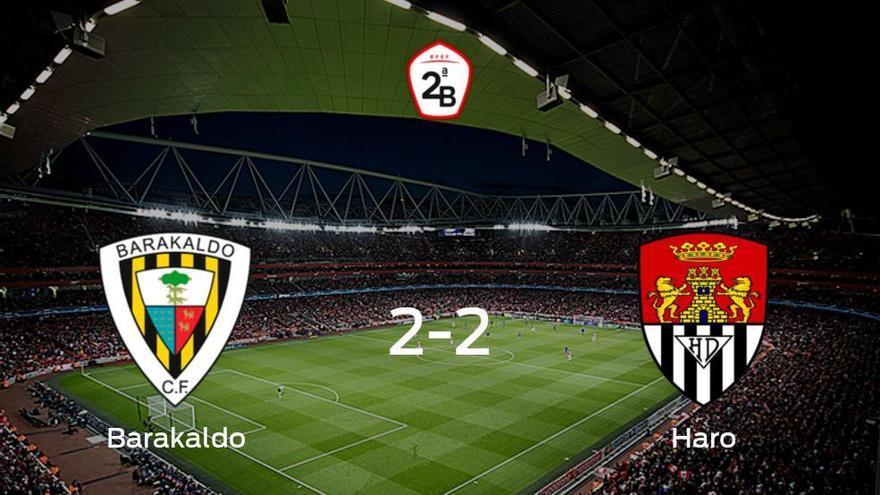 El Barakaldo y el Haro Deportivo concluyen su encuentro liguero con un empate (2-2)