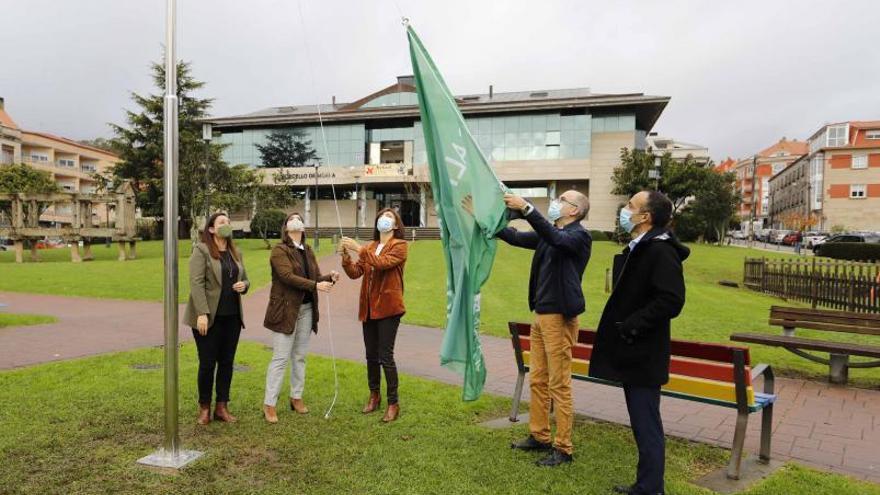 La Xunta renueva la Bandeira Verde que reconoce las políticas ambientales de Moaña