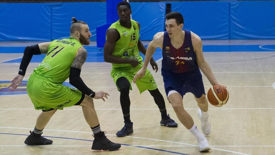 Clara victoria del Oviedo Baloncesto en la cancha del Barça B
