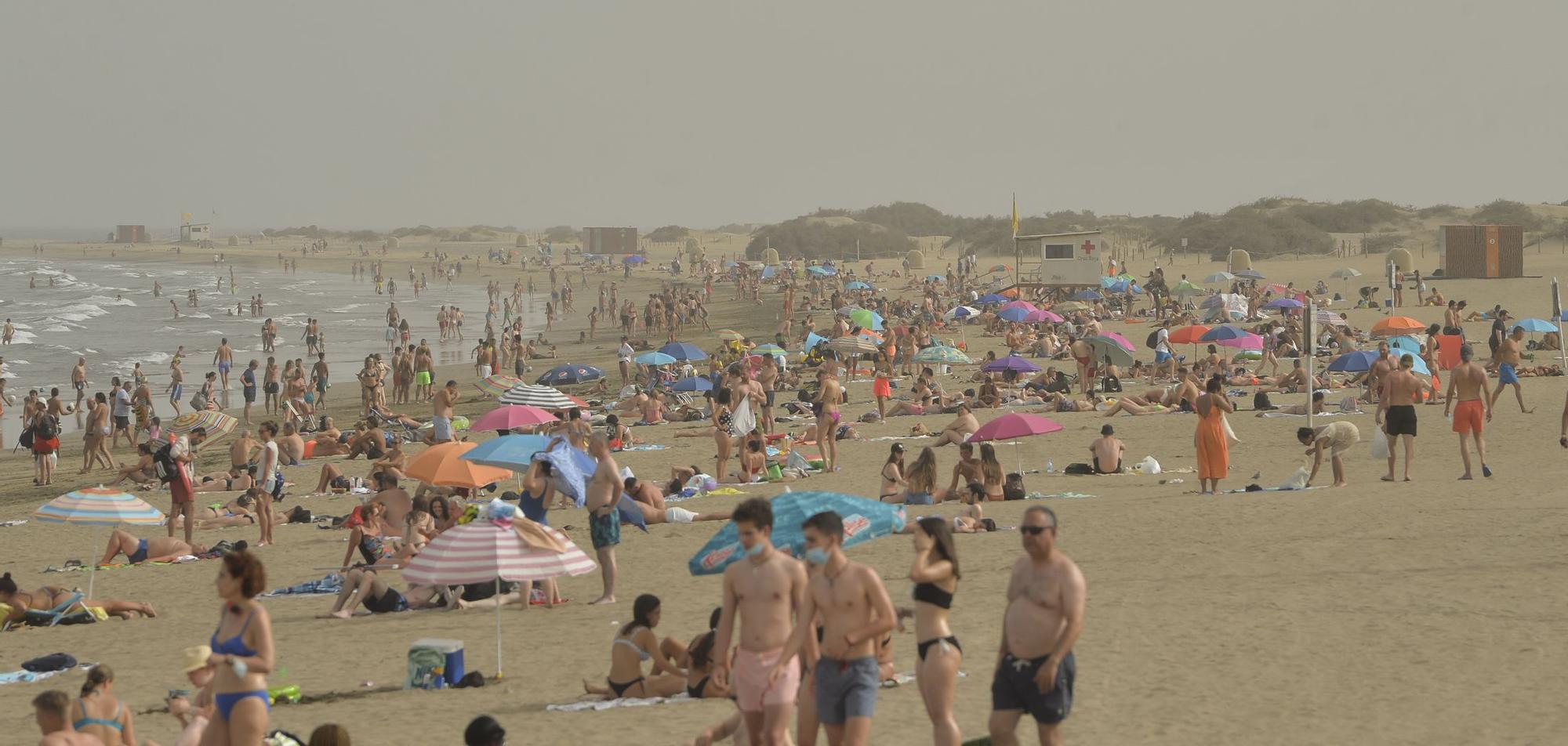 Riesgo de incendio en Gran Canaria por el fuerte calor (13/07/2021)