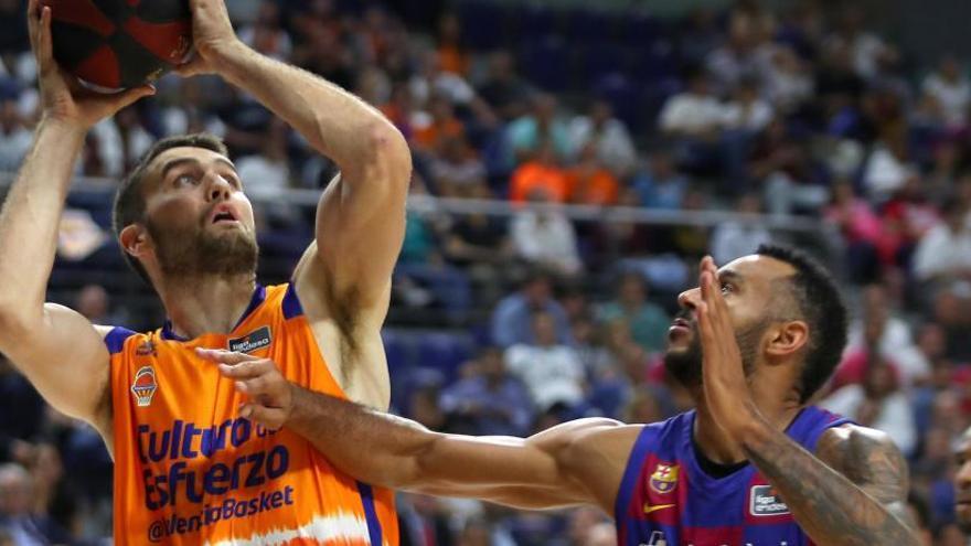 El Barça resiste a un luchador Valencia Basket