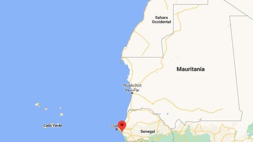 Localizador de la costa de M'Bour, en Senegal