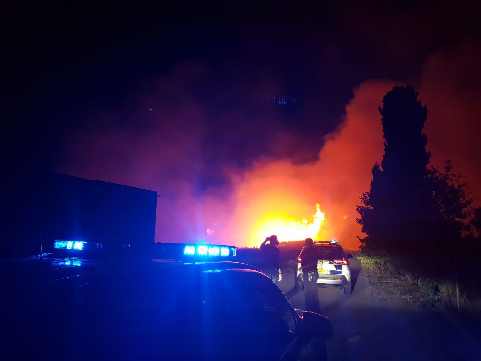 Incendio en Tavernes de la Valldigna