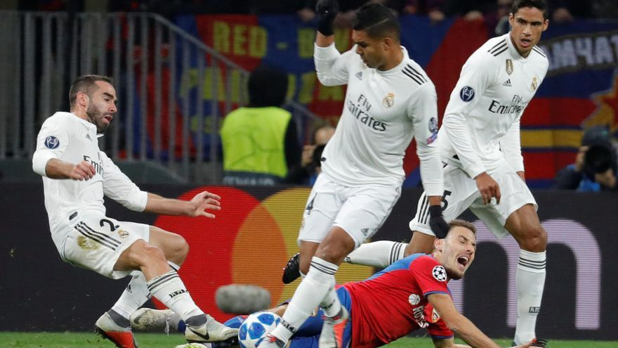 El Madrid alimenta els seus dubtes amb una dura derrota a Moscou