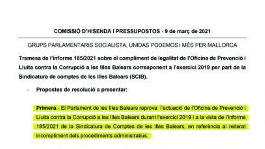 El PSOE intentó reprobar a Anticorrupción en plena investigación de las vacunas