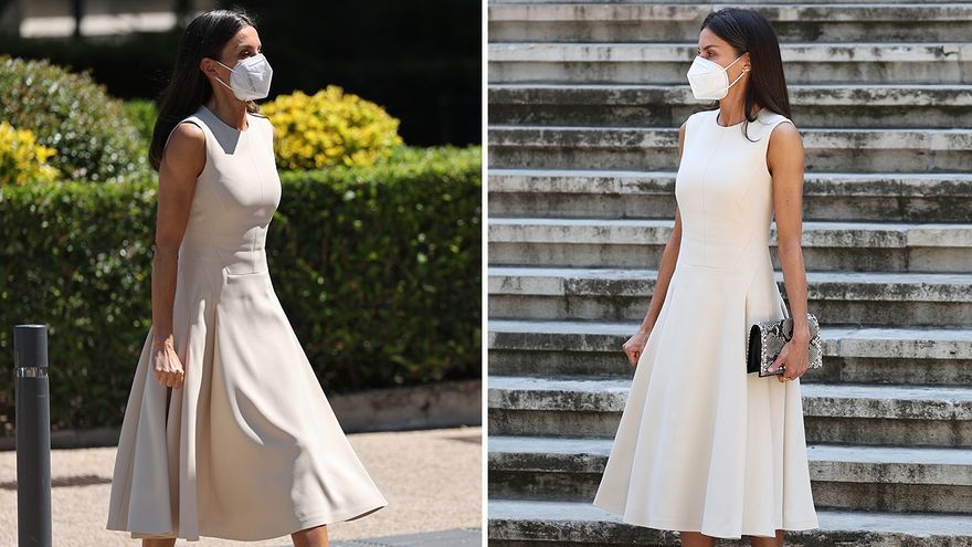 La Reina Letizia recupera su vestido blanco de Pedro del Hierro