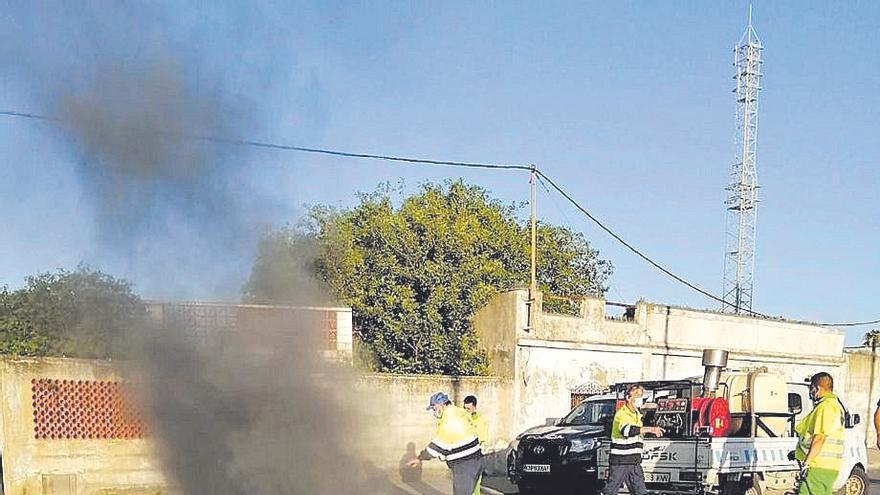 Refuerzos tras los disparos en los disturbios de La Línea
