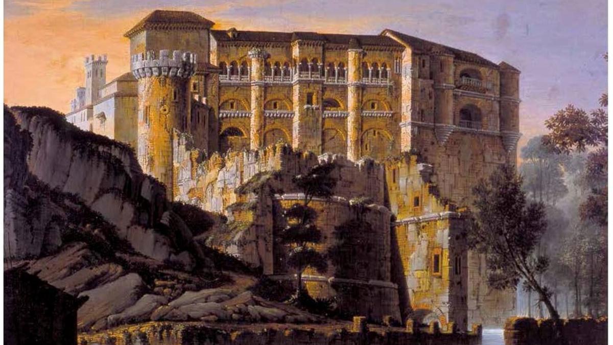 Imagen del cuadro del Castillo de Benavente con el que se recaudarán fondos.