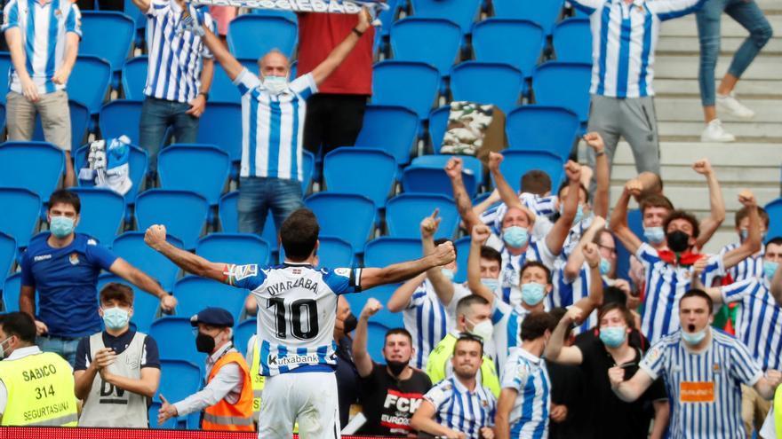La Real Sociedad logra su primera victoria de penalti ante el Rayo Vallecano