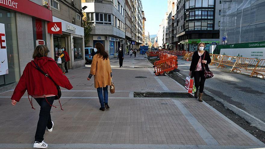Pontevedra paraliza sus obras en el centro a partir del día 18 para facilitar la campaña navideña