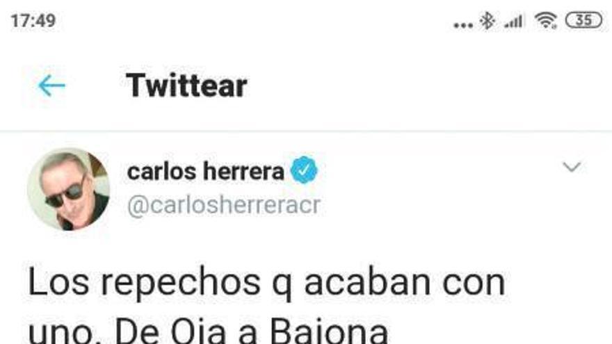 Herrera, peregrino por la Costa