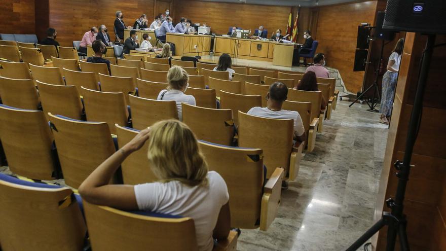 El salón de actos de los juzgados de Benalúa acoge macrojuicios por el covid