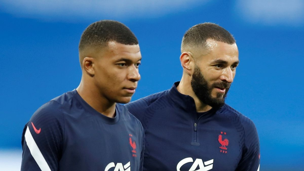 Mbappé y Benzema.