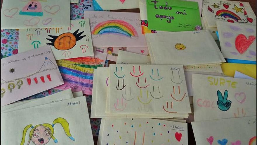 Cartas de Cangas a niños de La Palma