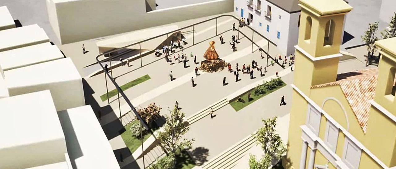 Simulación de cómo quedará la plaza al finalizar las obras de remodelación.   INFORMACIÓN
