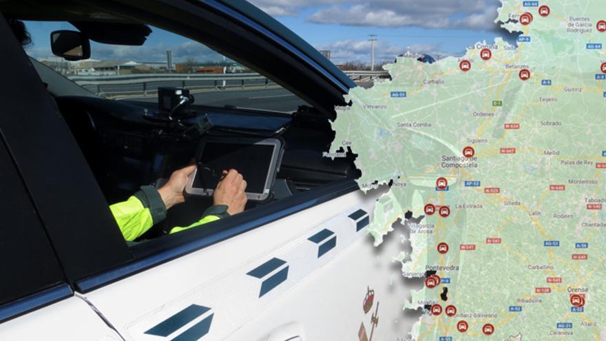 Galicia ya supera los 2.700 km controlados por radares móviles, el 10% de toda España