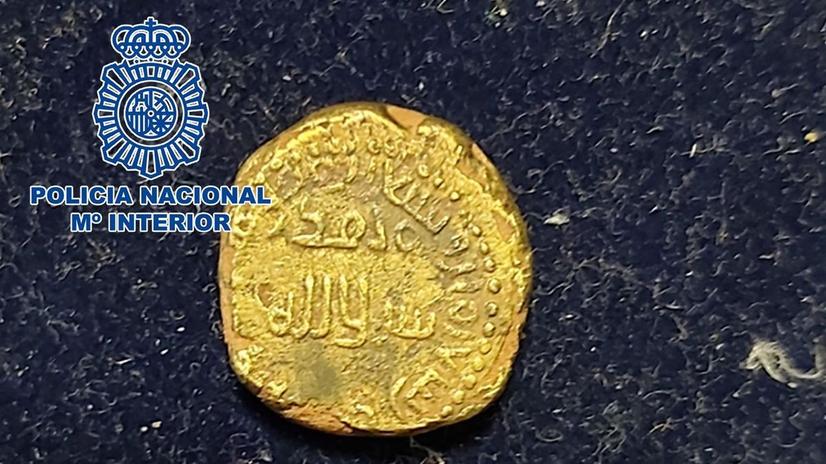 Image of the Hispano-Muslim gold coin.