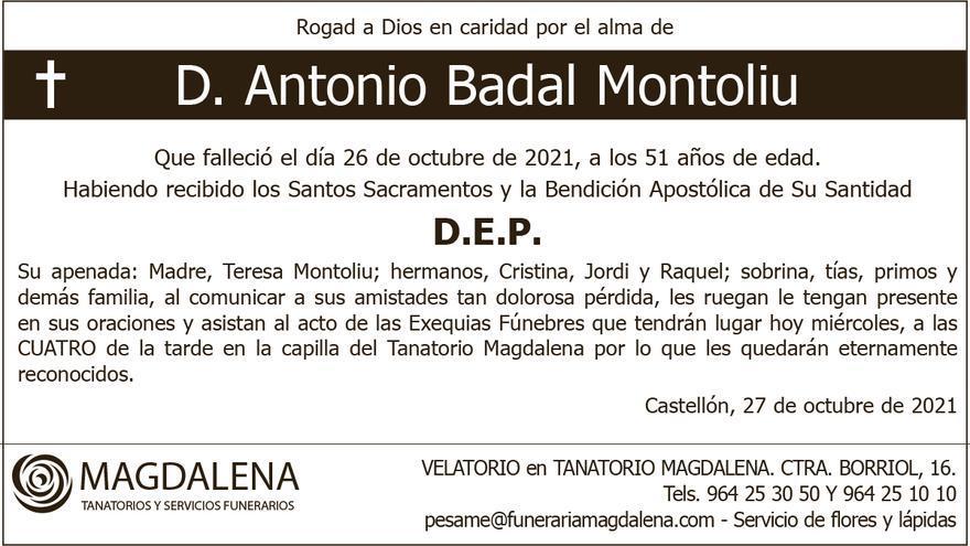 D. Antonio Badal Montoliu