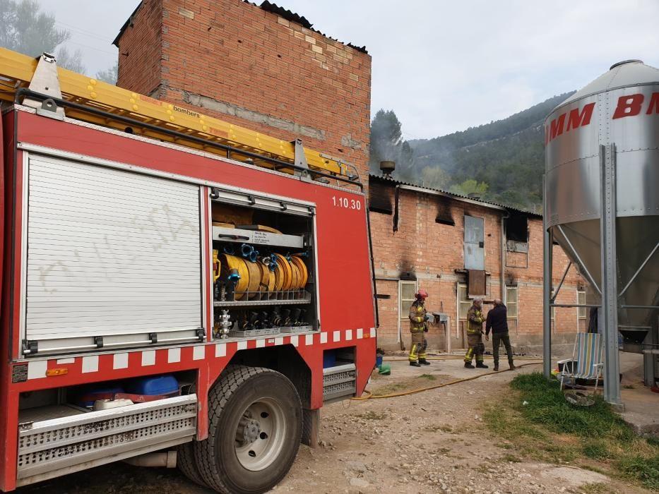 Incendi a una granja de Castellbell