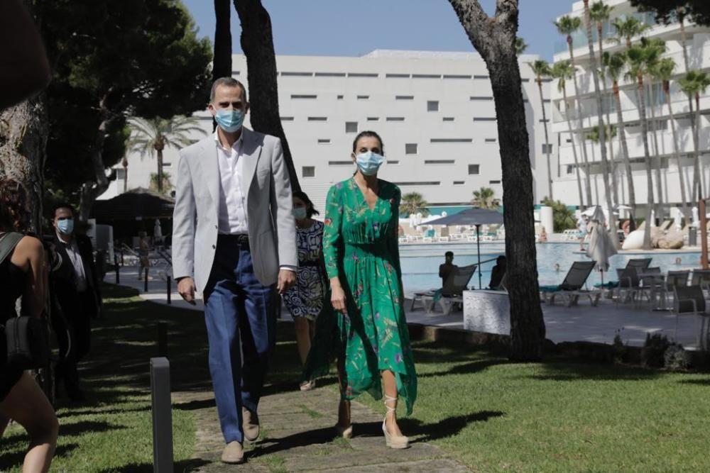 Visita de los Reyes a Mallorca en apoyo a los afectados por el coronavirus