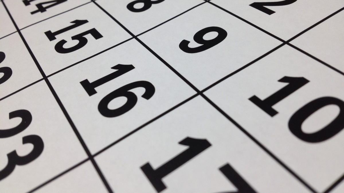 Calendario laboral de 2021.