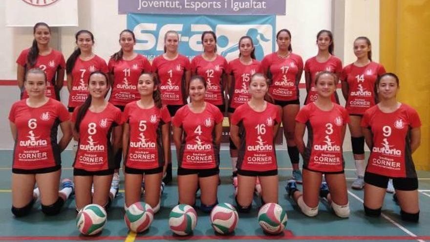 Victoria de los junior masculino y femenino del Xàtiva Voleibol