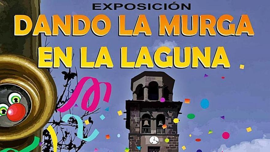 Cartel anunciador de Elena González para la exposición de las murgas.