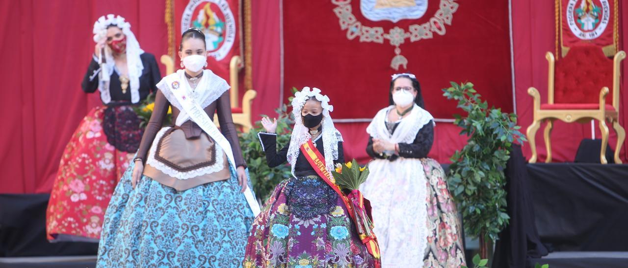 Una presentación de bellezas el pasado mes de septiembre, con las festeras usando mascarilla